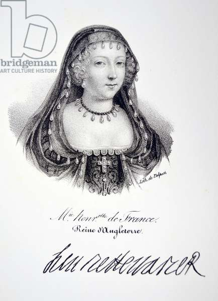 Henrietta Maria of France, 1832 (litho)