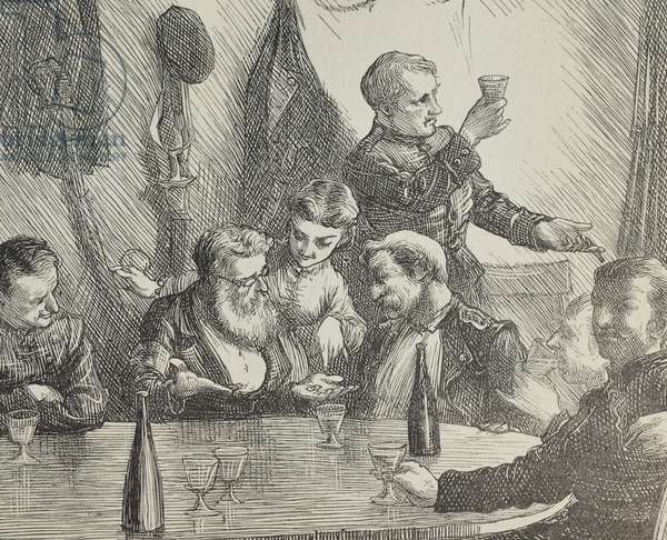 A Champagne Supper, 1870 (engraving)