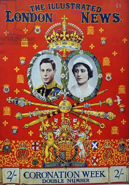 magazine cover for the coronation of Queen Elizabeth and King george VI of England 1937