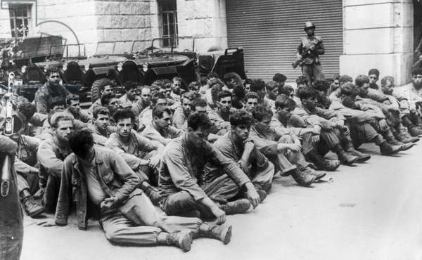 A group of American soldiers who have surrendered to the People's Army of the Korean People's Democratic Republic during the Korean War, September 1950