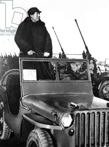 Chairman Mao Reviewing Pla Forces Ay Hsiyuan Airfield on the Outskirts of Peking in March 1949.