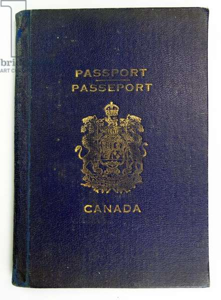 Canadian Passport issued to a British Royal Air Force pilot, 1944