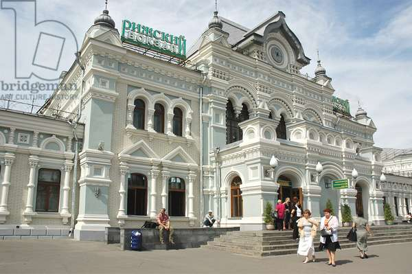 The Rizhsky Train Station In Moscow : The Rizhsky train station in Moscow, Russia, 04/08/11 ©ITAR-TASS/UIG/Leemage