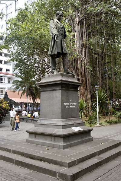 Statue of Adrien D'Epinay, Port Louis, Mauritius (photo)