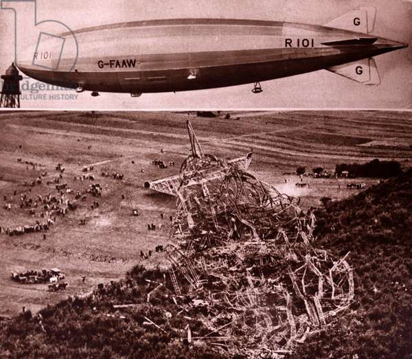 R101 was one a British rigid airship completed in 1929