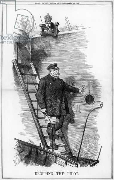 Dropping the Pilot', Punch 29 March 1890.