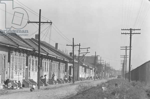 New Orleans Negro street. Louisiana 1936 (photo)