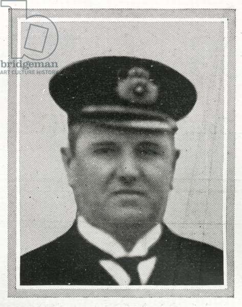 Hugh McElroy, Chief Purser of RMS Titanic, from 'The Sphere', 20 April 1912 (litho) (detail of 450856)