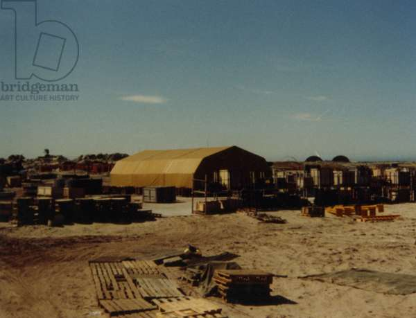 A Military Base in the Falklands, 1982 (photo)