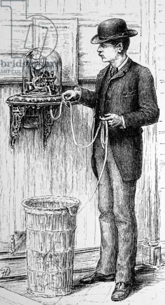 A teleprinter in use at the New York Stock Exchange: an Edison instrument, 1885