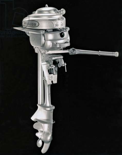 1940 Evinrude Outboard Motor, United States, c.1940  (b/w photo)