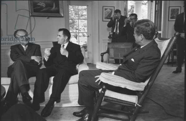 Soviet ambassador to the US, Anatoly F. Dobrynin and Soviet foreign minister Andrei Gromyko, 1962