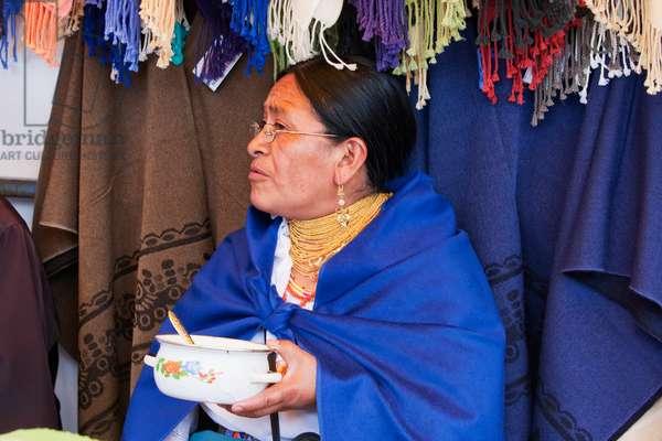 Otavaleno Woman With Pot, Otavalo, Imbabura, Ecuador (photo)