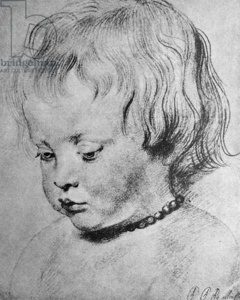 Nicholaas Rubens wearing a coral Necklace, 1619 (chalk)