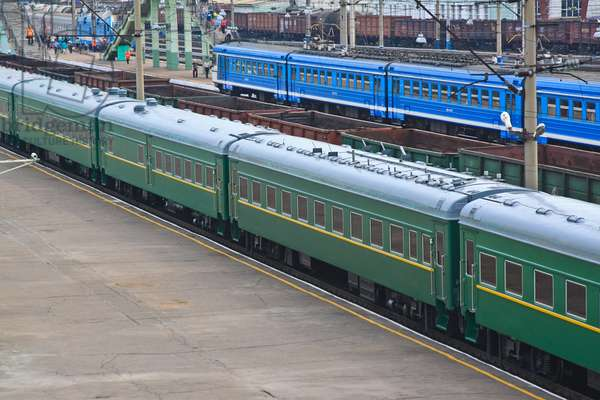 Buryatia, Russia, August 23, 2011, the Armoured Train of Kim Jong-Il (Kim Jong Il), the Leader of the Democratic People'S Republic of Korea (North Korea), the Chairman of the National Defense Commission, General Secretary of the Workers' Party of Korea, Arrived at the Railway Station in Ulan-Ude City.