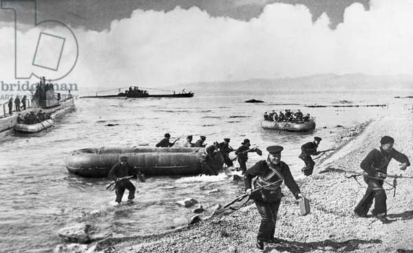 Black Sea Fleet, Soviet Submarines Landing a Detachment of Marines Onto Occupied Territory, April 1942.