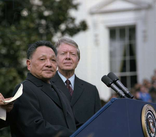 Deng Xiaoping and Jimmy Carter