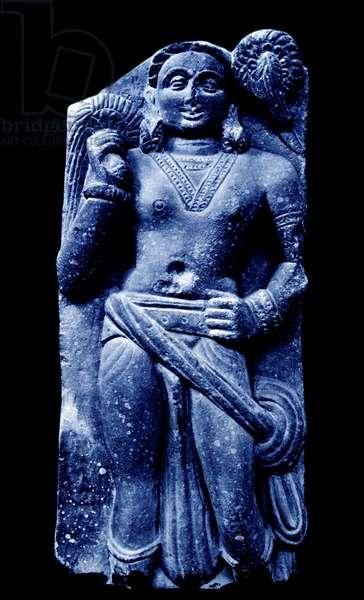 Buddhist art of India: Bodhisattva in Sandstone from Mathura, India 2nd Century AD