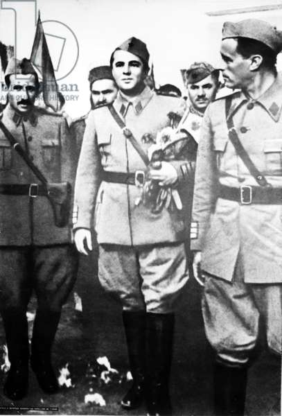 The Democratic Government And Enver Hoxha On Nov. 28, 1944. Nov. 29, 1944 Is The Day Of Liberation For The Entire Albania, World War Ii.