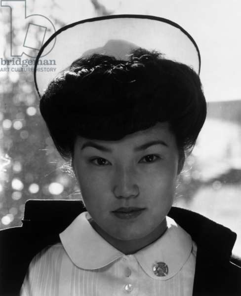 Nurse Aiko Hamaguchi, Manzanar Relocation Center, California, 1943 (photo)