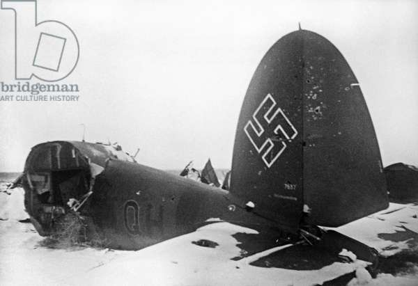 A Shot Aircraft In Stalingrad