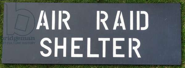 World war two sign for an 'Air Raid' Shelter
