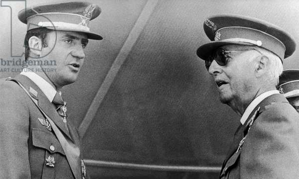 General Francisco Franco with his heir
