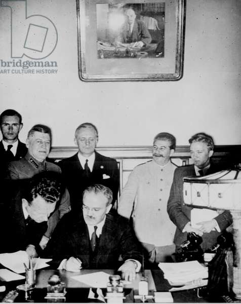 The Molotov-Ribbentrop Pact, named after the Soviet foreign minister Molotov and the German foreign minister von Ribbentrop, was an agreement known as the Treaty of Non-Aggression between Germany and the Soviet Union(, signed in Moscow 23 August 1939.