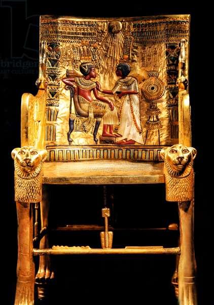 The Golden Throne of King Tutankhamen