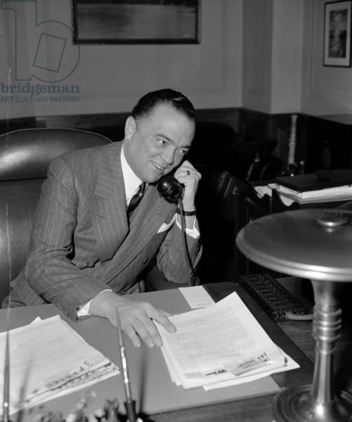 J. Edgar Hoover 1895-1972. Director of the FBI (Federal Bureau of Investigation), from 1924-1972. Date 19400101