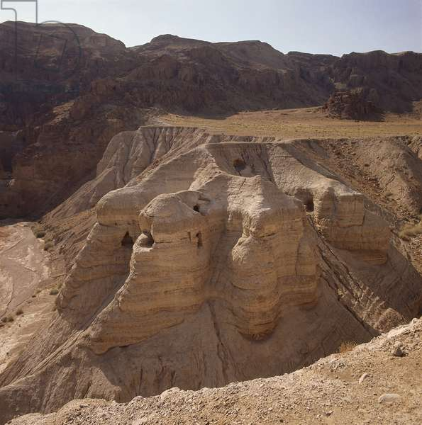 Cave IV at Qumran, the site where the Dead Sea Scrolls were discovered.