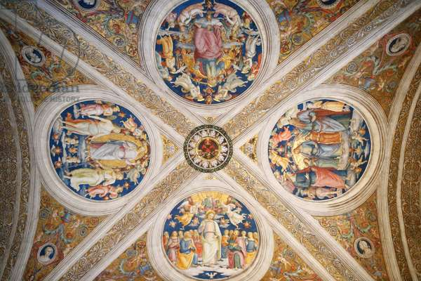 The celling, Paintings of Jesus, Room of the Fire in the Borgo, Vatican Museum, (photo)