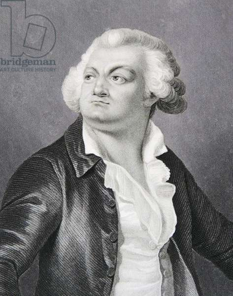 French Revolutionary Leader, Georges Jacques Danton, 1794 (engraving)