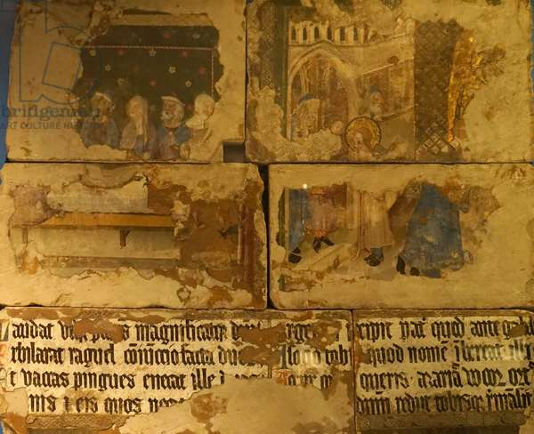 Medieval English wall painting from St Stephen's Chapel, 1754