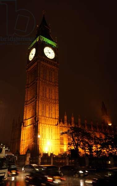 View of Big Ben at night, 2000