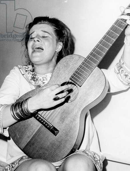 Janis Joplin, 1960s (b/w photo)