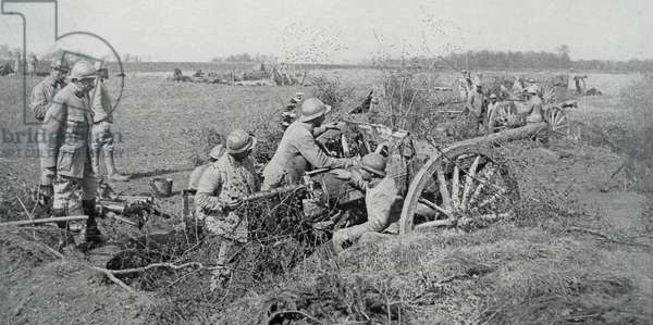 French artillery, 1918