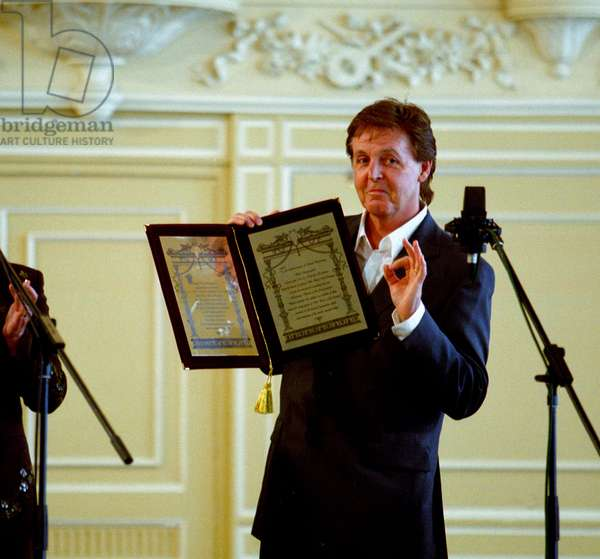 Sir Paul Mccartney, the Famous British Musician, and a Former Beatle, Receives the Award of Honorary Doctor of Music at the St. Petersburg Conservatory, St. Petersburg, Russia, 5/03.