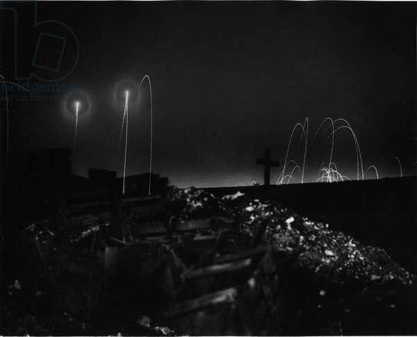 Battle of Albert, 1916 (b/w photo)