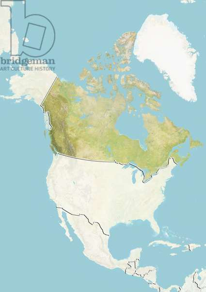 Canada, Relief Map