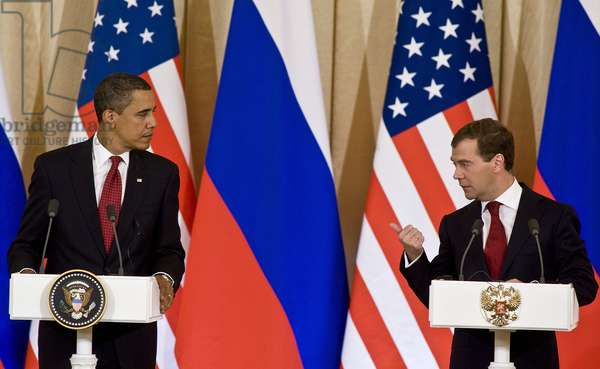 Barack Obama And Dmitry Medvedev Hold A News Conference