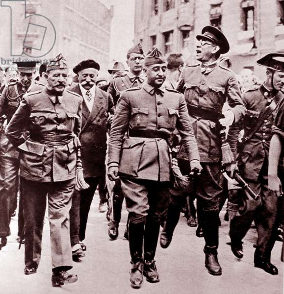 Spanish Civil War nationalist leaders: Left to right