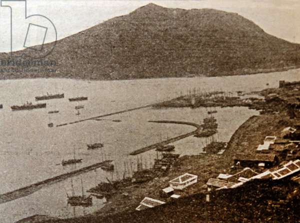 Photographic print of the Port of Fusan