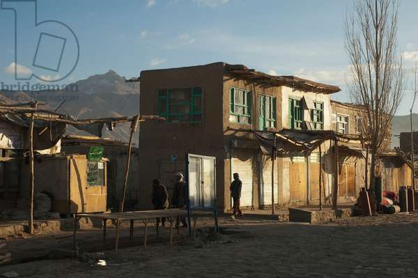 The Bazaar in Bamiyan in the Early Morning, Bamian Province, Afghanistan (photo)