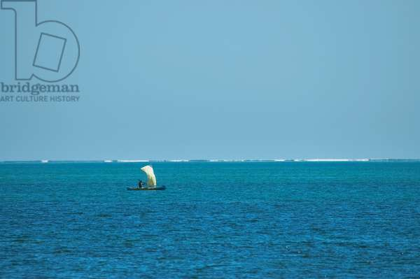 Sail Boat in the Mozambique Channel Near Ifaty, Toliara Province, Madagascar (photo)