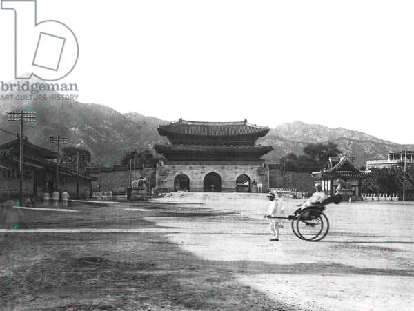 Entrance To North Palace, 1924 (b/w photo)