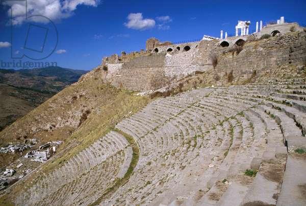 The Theatre in Turkey, Pergamon/Bergama. 3rd Century BC (photo)