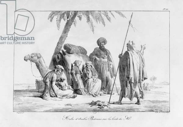 Arabs and Bedouins resting, from the series 'Voyage to the Levant', 1819