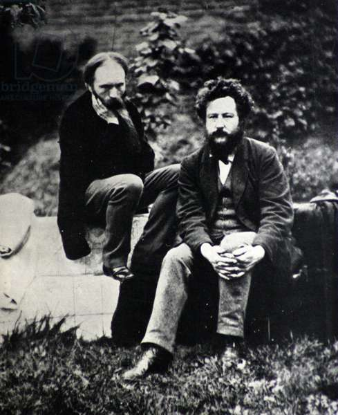 William Morris with Edward Burne-Jones