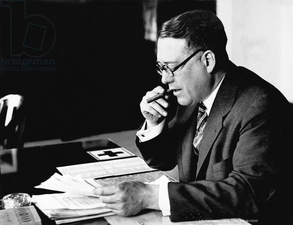 Portrait Of Elmer Irey (b/w photo)